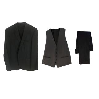 Boss Hugo Boss Charcoal Three Piece Suit