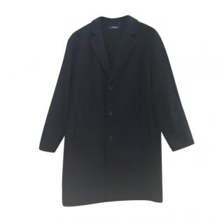 Polo Ralph Lauren Black Wool Mens Single Breasted Coat