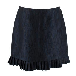 McQ Alexander McQueen Blue Zebra Jacquard Mini Skirt