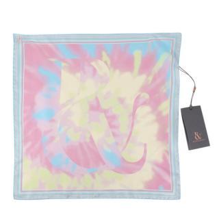 Ralph & Russo Pink Tie-Dye Silk Pochette Scarf