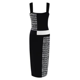 Roland Mouret Black & White Knit Sleeveless Dress