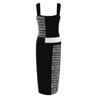 Roland Mouret Black & White Knit Sleeveless Dress