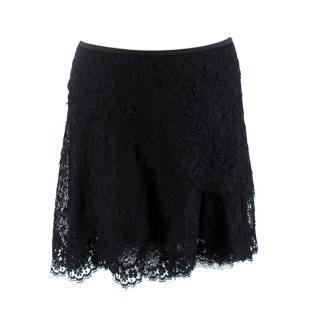 Isabel Marant Black Lace Beaded Mini Skirt