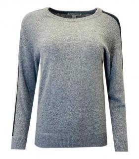 Autumn Cashmere Grey Cashmere Stripe Detail Jumper