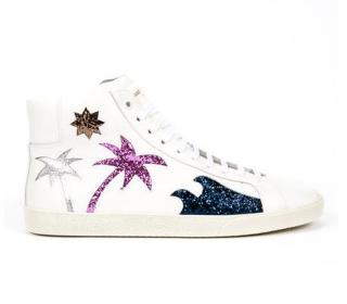 Saint Laurent Palm Tree Hi-Top Sneakers