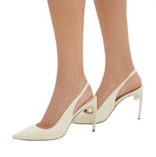 Nicholas Kirkwood Mia pearl-heeled slingback leather pumps