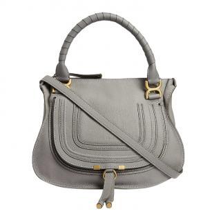 Chloe Grey Medium Marcie Shoulder Bag