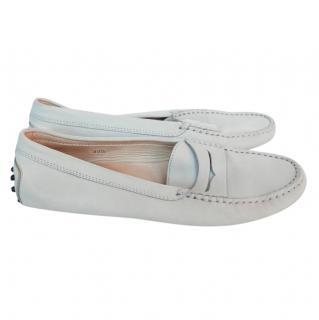 Tod's Grey Nubuck Gommini Loafers