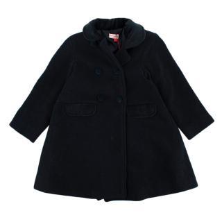 La Coqueta Navy Wool Blend Arrieta Coat