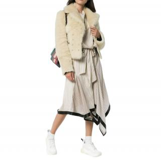 Chloe Ivory Shearling Double Breasted Runway Coat