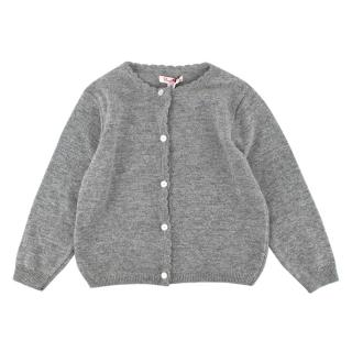 Confiture Grey Wool & Cashmere Blend Beatrice Sparkly Cardigan
