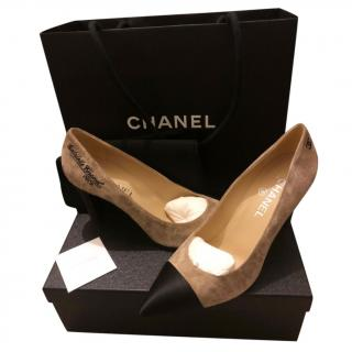 Chanel Suede & leather Gabrielle Pumps