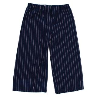 Il Gufo Navy Pink Pinstripe Flannel Trousers