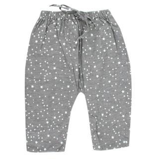 La Coqueta Grey Cotton Star Print Trousers