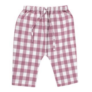 La Coqueta Pink Gingham Cotton Albahaca Trousers