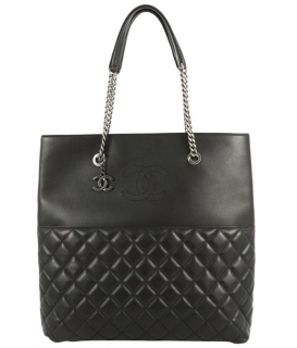 Chanel Black Quilted Leather Urban Delight Tote Bag