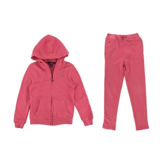 Polo Ralph Lauren Two Piece Pink Fleece Tracksuit