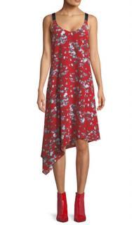 Rag & Bone Red Floral Estell Slip Dress
