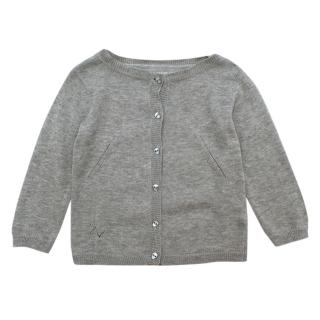 Zadig & Voltaire Little Grey Buttoned Cardigan