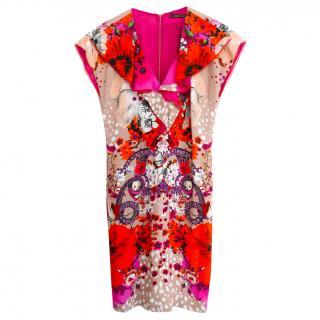 Roberto Cavalli Garden of Eden Print Shift Dress