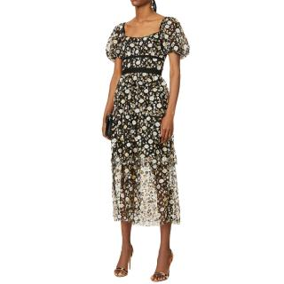Self Portrait Sequin-Embellished Dress