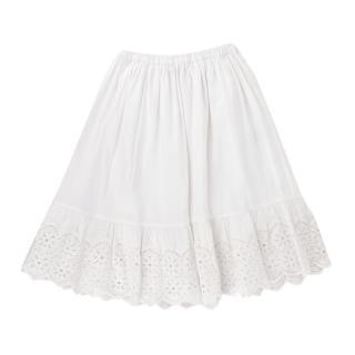 Bonpoint White Broderie Anglaise Skirt