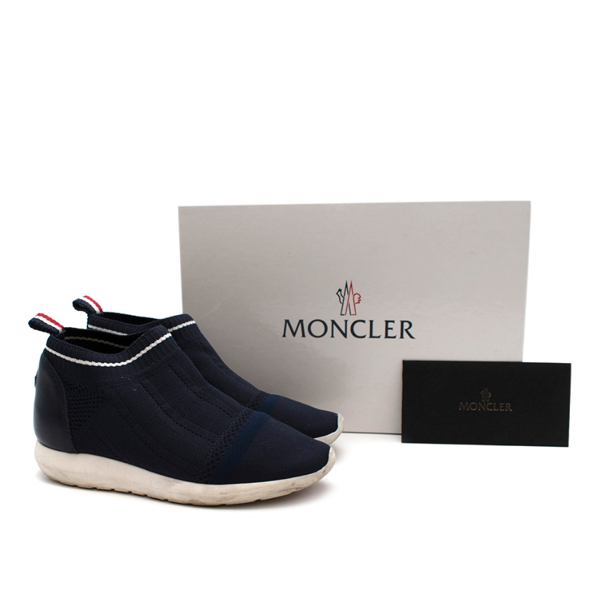 Moncler Navy Bali Sock Trainers