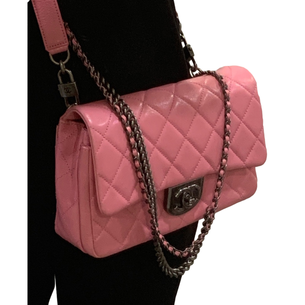 Chanel Candy Pink Lambskin 3-in-1 Flap Belt Bag