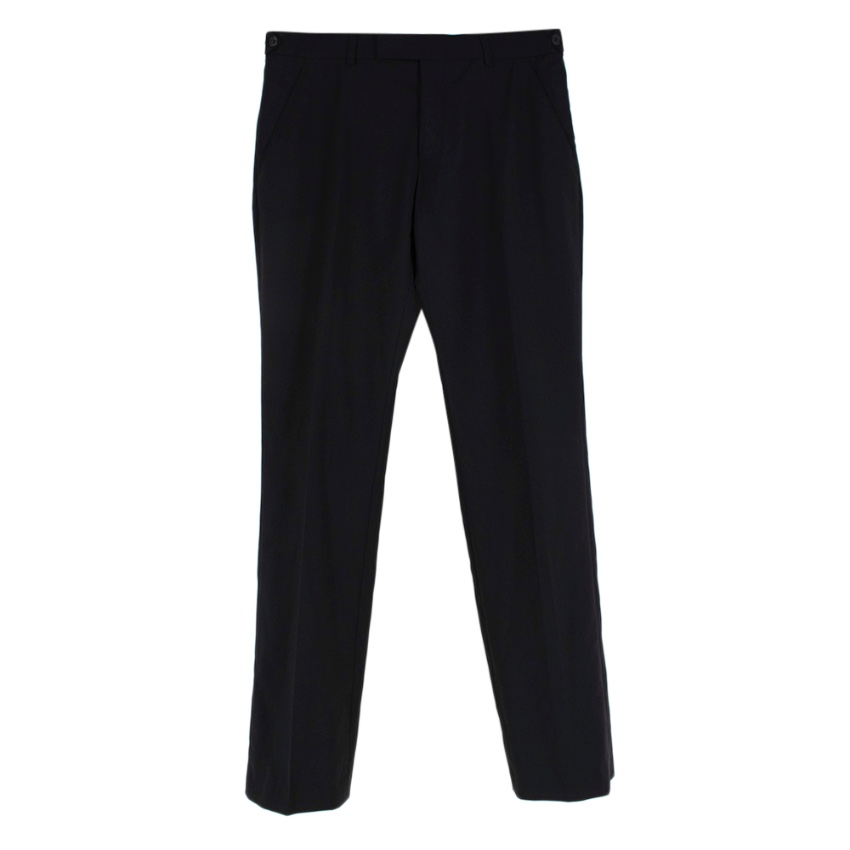 Dior Homme Black Wool Tailored Trousers
