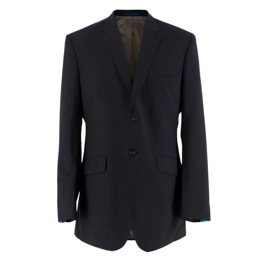 Ozwald Boateng Black Wool Blend Single Breasted Blazer