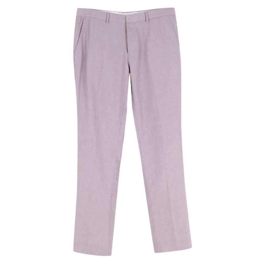 Frederik Anderson Copenhagen Pink Tailored Cotton Trousers