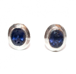 Bespoke Sterling Silver & Tanzanite Cufflinks
