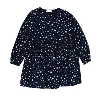 Pinko Navy Star Print Long Sleeve Dress