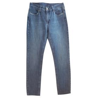 Ecada Blue Straight Leg Jeans