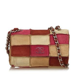 Chanel vintage quilted chocolate bar shoulder bag