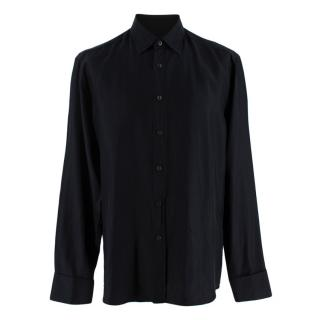 Prada Black Silk Long Sleeve Shirt