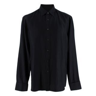 Prada Black Silk Long Sleeve Shirt