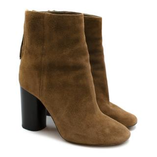 Isabel Marant Brown Suede Heeled Ankle Boots
