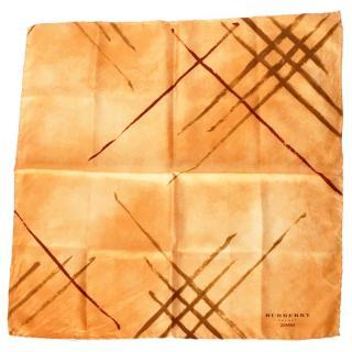 Burberry Orange Silk Square Scarf