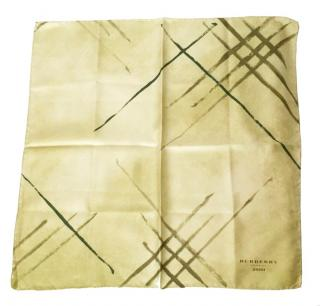 Burberry Olive Silk Square Scarf