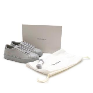 Common Projects Grey Original Achilles Low Kid Trainers