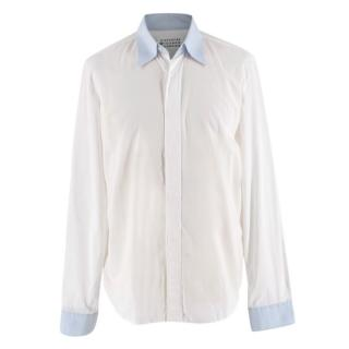 Maison Martin Margiela Cotton Voile White Long Sleeve Shirt