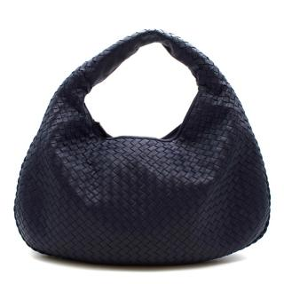 Bottega Veneta Blue Intrecciato Medium Veneta Hobo Bag