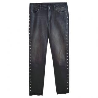 Escada Black Denim Studded Jeans
