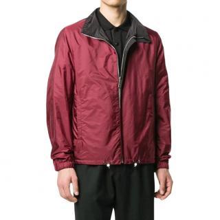 Prada Black/Red Nylon Bomber Jacket