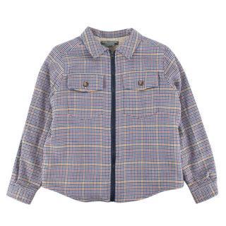 Bonpoint Tartan Zip Cotton Jacket