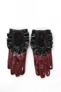 Prada Bi-Colour Leather Gloves