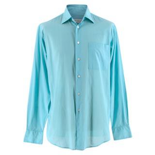 Richard James Savile Row Turquoise Cotton Shirt