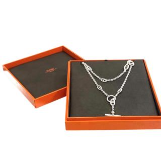 Hermes Silver Farandole Long Necklace