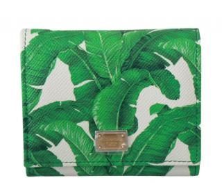 Dolce & Gabbana Banana Leaf Print Wallet